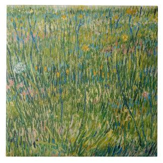 Vincent van Gogh - Flecken des Grases Fliese