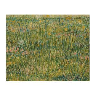 Vincent van Gogh - Flecken des Grases Holzdruck