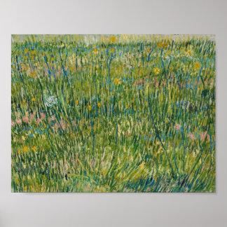 Vincent van Gogh - Flecken des Grases Poster