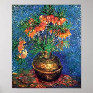 Vincent van Gogh - Fritillaries in einem kupfernen Poster