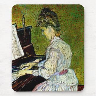 Vincent van Gogh - Gänseblümchen Gachet am Klavier Mousepad