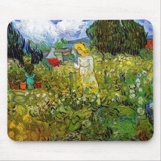 Vincent van Gogh - Gänseblümchen Gachet im Garten Mousepad
