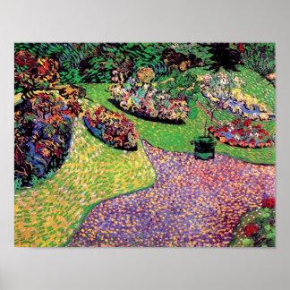 Vincent van Gogh - Garten in Auvers schöner Kunst Poster