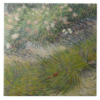 Vincent van Gogh - Gras und Schmetterlinge Keramikfliese