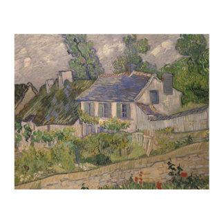 Vincent van Gogh - Häuser bei Auvers Holzleinwand