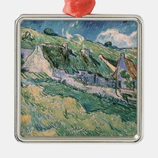 Vincent van Gogh | Hütten bei Auvers-sur-Oise Quadratisches Silberfarbenes Ornament