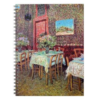 Vincent van Gogh - Innenraum eines Restaurants Notizblock