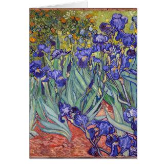 Vincent van Gogh-Iris die Grafik-Kunst-Druck malt Grußkarte