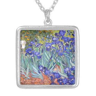 Vincent van Gogh Irises Vintage feine mit Versilberte Kette