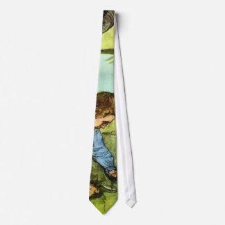 Vincent van Gogh - Jungen-Ausschnitt-Gras mit Bedruckte Krawatten