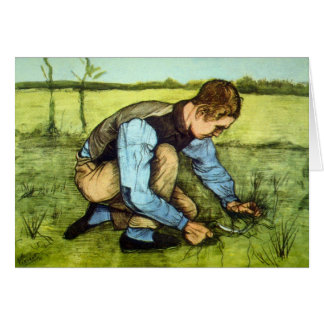 Vincent van Gogh - Jungen-Ausschnitt-Gras mit Karte