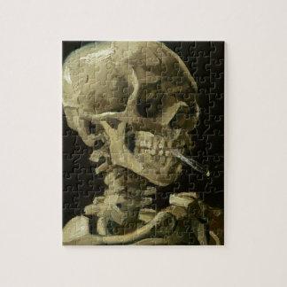 Vincent van Gogh-Kopf eines Skeletts mit Zigarette Puzzle