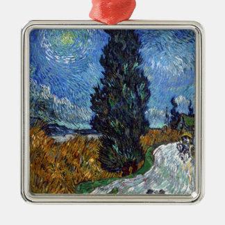 Vincent van Gogh-Landstraße in Provence bis zum Quadratisches Silberfarbenes Ornament