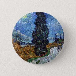 Vincent van Gogh-Landstraße in Provence bis zum Runder Button 5,7 Cm