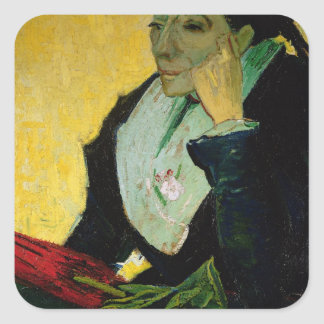 Vincent van Gogh | L'Arlesienne, Detail, 1888 Quadratischer Aufkleber