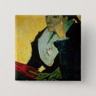 Vincent van Gogh | L'Arlesienne, Detail, 1888 Quadratischer Button 5,1 Cm