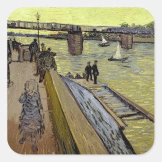Vincent van Gogh   Le Pont de Trinquetaille Arles Quadratischer Aufkleber