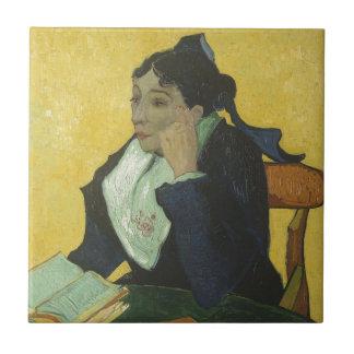 Vincent van Gogh - Madame Ginoux mit Büchern Keramikfliese