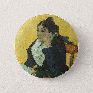 Vincent van Gogh - Madame Ginoux mit Büchern Runder Button 5,7 Cm