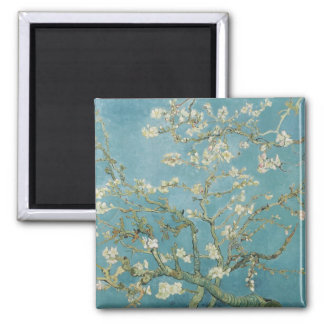 Vincent van Gogh, Mandelblüten Quadratischer Magnet
