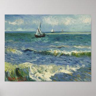 Vincent van Gogh - Meerblick nahe Les Saintes Poster