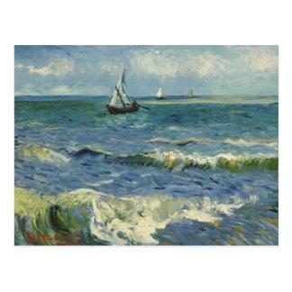 Vincent van Gogh - Meerblick nahe Les Saintes Postkarte