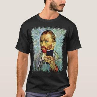 Vincent van Gogh-Mobiltelefon Selfie Selbstporträt T-Shirt