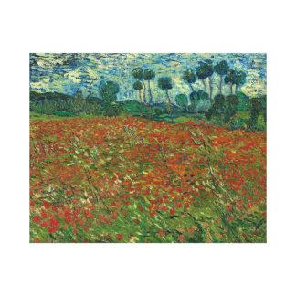 Vincent van Gogh - Mohnblumen-Feld Leinwanddruck