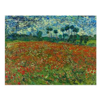 Vincent van Gogh-Mohnblumen-Feld Postkarte