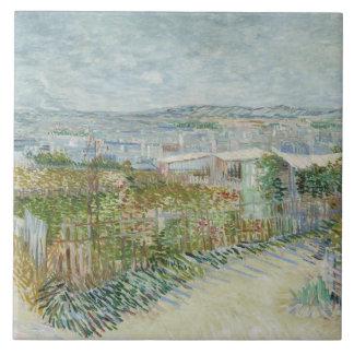 Vincent van Gogh - Montmartre: Hinter dem Moulin Keramikfliese