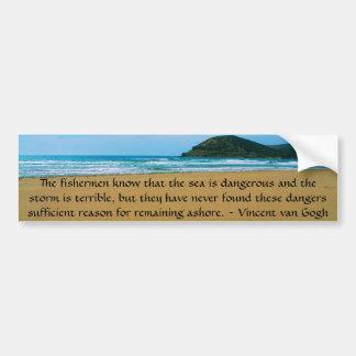 Vincent van Gogh motivierend Zitat Autoaufkleber