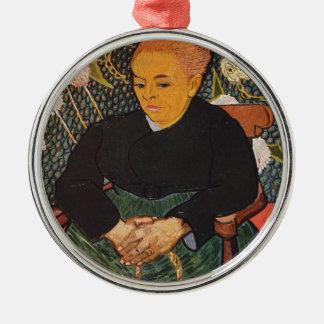 Vincent van Gogh - nette alte Dame Porträt Silbernes Ornament