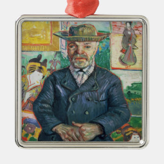 Vincent van Gogh | Pere Tanguy (Vater Tanguy) Quadratisches Silberfarbenes Ornament