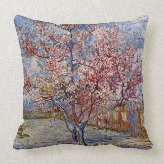 Vincent van Gogh-Pfirsich Tree in der Blüte Kissen