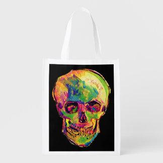 Vincent van Gogh - Pop-Kunst-Halloween-Schädel Wiederverwendbare Einkaufstasche