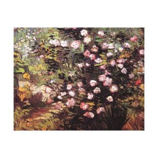 Vincent van Gogh - Rosebush in der Blüten-schönen Leinwanddruck