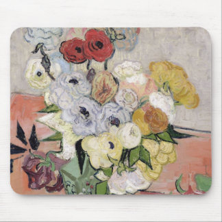 Vincent van Gogh | Rosen und Anemonen, 1890 Mauspads