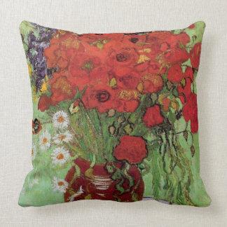 Vincent van Gogh-Rot Poppies und Gänseblümchen Kissen