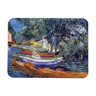 Vincent van Gogh - Ruderboote auf den Banken Oise Magnet