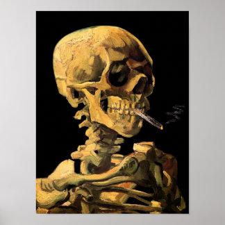 Vincent van Gogh - Schädel mit brennender Poster