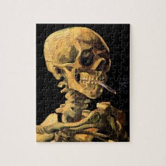Vincent van Gogh - Schädel mit brennender Puzzle
