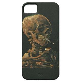 Vincent van Gogh-Schädel-rauchende Zigarette iPhone 5 Schutzhüllen