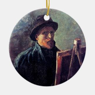 Vincent van Gogh - Selbstporträt-dunkler Keramik Ornament