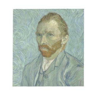 Vincent van Gogh-Selbstporträt-Klassiker-Kunstwerk Notizblock