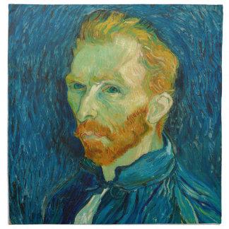 Vincent van Gogh-Selbstporträt-Malerei 1889 Stoffserviette