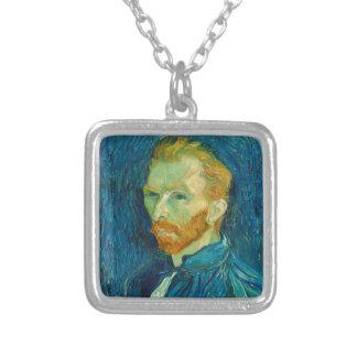 Vincent van Gogh-Selbstporträt-Malerei 1889 Versilberte Kette