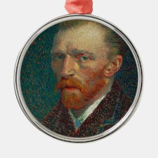 Vincent van Gogh - Selbstporträt-Malerei Silbernes Ornament