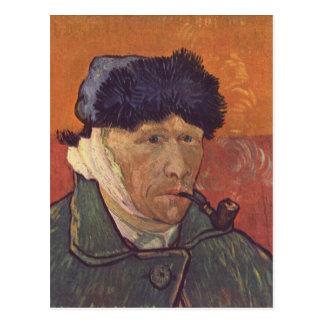 Vincent van Gogh - Selbstporträt mit dem Postkarte