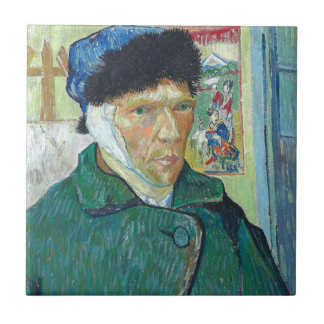 Vincent van Gogh-Selbstporträt mit dem verbundenen Keramikfliese