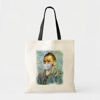 Vincent van Gogh-Selbstporträt mit Masken-Parodie Tragetasche